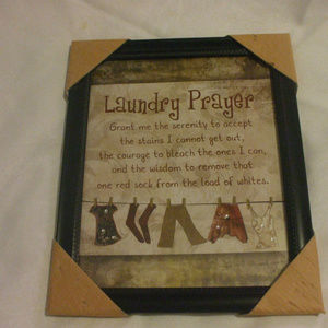 Other - Laundry Prayer Wall Decoration 9 X 11 Inches